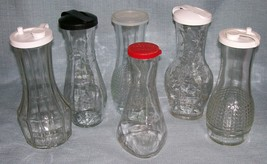 Vintage Good Seasons Cruets -Variety of Designs /Lids -Clear Glass -Your Choice! image 1