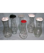 Vintage Good Seasons Cruets -Variety of Designs /Lids -Clear Glass -Your... - $3.95+