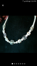 Swarovski Pink Crystal Pearls with Lampwork Beads - $75.00
