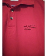Tehama Large Jimmy V Celebrity Golf Classic Polo Pima Combed NCSU Coach Red - $34.65