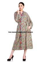 Indian Floral Print Gown Cotton Kimono Robe Hippie Intimate Nightwear Ba... - ₨2,185.40 INR