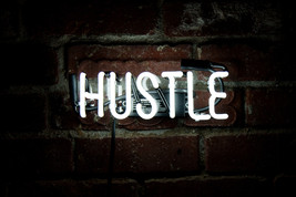 "New Hustle Wall Decor Acrylic Back Neon Light Sign 14"" Fast Ship - $60.00"
