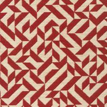 Knoll Eclat Weave Scarlet Mid Century Geometric Upholstery Fabric 3 yd K... - $71.82