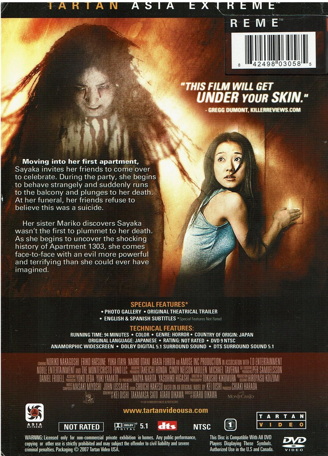 Apartment 1303, DVD, 2007, Horror, Widescreen