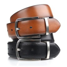 Tommy Hilfiger Men's Reversible Feathered Edge Stitched Leather Belt 11TL02X188