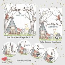 Woodland animals baby shower gift bundle listing thumb200