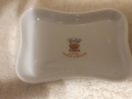"G D A Limoges "" Hotel Prince de Galles"" trinket dish chrest on white 4.5... - $16.53"