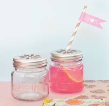 50 DIY Mason Jar Drinking Glass Flower Lid Birthday Baby Bridal Wedding ... - $73.10