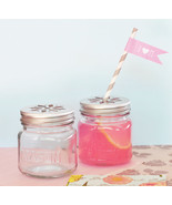50 DIY Mason Jar Drinking Glass Flower Lid Birthday Baby Bridal Wedding ... - $73.10