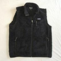 Patagonia Mens Los Gatos Fleece Zip Vest Pockets Black Size Large Outdoor - $69.99