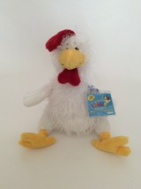 """Ganz Webkinz White Yellow Red Chicken 10"""" New Unused Code Plush Stuffed Animal - $8.59"""