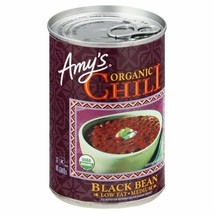 Amy's Organic Low Fat Medium Chili Black Bean 14.7 oz ( Pack of 6 ) - $29.69