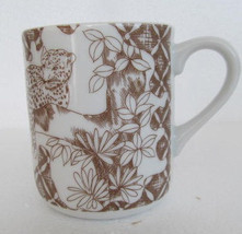 "1960's Wild Habitat ""Tiger"" Collectible Porcelain Coffee Mug, Exclusive ... - $14.99"