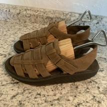 SKECHERS shape ups womens brown leather rocker sandals 10 - $39.55