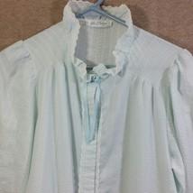 Vintage Miss Elaine Robe Blue Ruffles Gown - $16.00