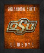 "Oklahoma State Cowboys ""Retro College Logo Map"" 13x16 Framed Print  - $39.95"