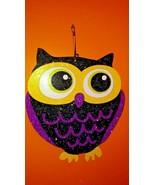 "12"" x 10.25"" Inch ""HOOT OWL"" Glitzy WOODEN WALL / DOOR HALLOWEEN SIGN PL... - $4.46"