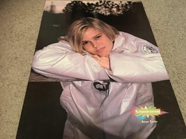 Aaron Carter Hanson teen magazine poster clipping on the fence white coat