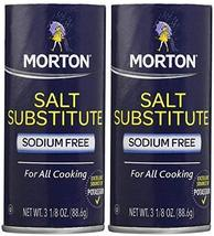 Morton Salt Substitute, 3.12 oz, 2 pk - $14.84