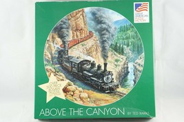 """Great American """"Above The Canyon"""" 500 Pc Jigsaw Puzzle Train Locomotive ... - $17.90"""