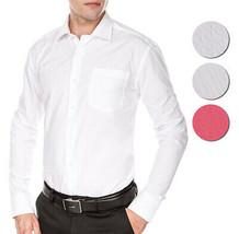 Men's Fashion Fit Long Sleeve Button Down Pocket Pattern Dress Shirt
