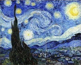 USA - DIY Paint by Number Kit Acrylic Painting Home Decor - Starry Night - $18.80