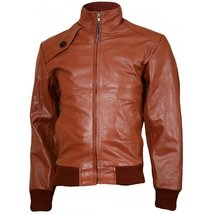 Soft Tan Leather Bomber Jacket Men - Ballinamore Men  Style - $149.99+