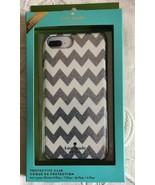 KATE SPADE iPHONE CASE SILVER GLITTER CHEVRON ON WHITE FOR 8/7/6/ PLUS 6... - $29.99