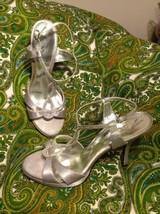 "Touch Of Nina Gelossi 10M Women's Silver W/ Rhinestones Formal 4"" Sandals Heels - $29.69"