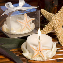 25 starfish design candle favors beach theme wedding favor bridal shower - $31.50