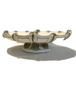 Footed Compote Universal Statuary Corp 1957 Italian Mid-Century White Co... - $24.19