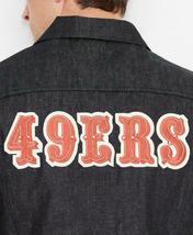 Levi's Strauss Men's NFL Team 49ERS Button Up Denim Jean Bomber Jacket 181930001 image 3