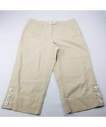 Talbots Petites Womens Long Shorts Stretch Beige Size 12 - $12.35