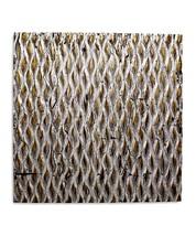 """Metallic Ridge Silver Gold Wall Art SGWA-82  24"""" x 24"""" - $88.89"""