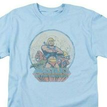 He-Man Masters of the Universe Retro 80s cartoon distressed blue t-shirt DRM267 image 3