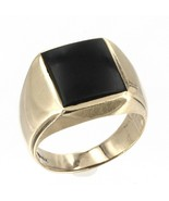 Men's Vintage 10K Solid Yellow Gold Black Onyx Ring 6.4 Grams Size 10 - $189.99