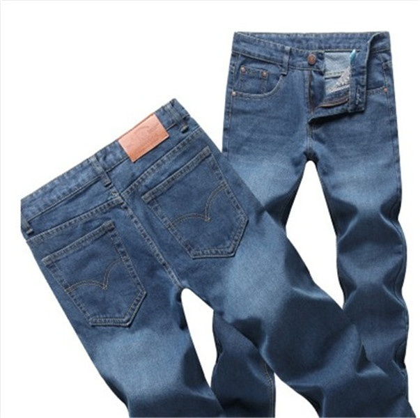 Men's fashion classic wash jeans image 8