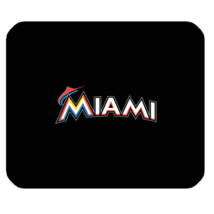 Mouse Pad The Miami Marlins Logo American Professional Baseball Team Sports - $5.35 CAD