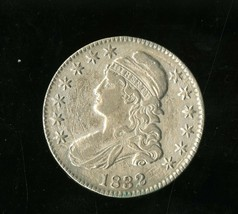 1832 CAPPED BUST HALF DOLLAR UNGRADED US SILVER COIN - $149.95
