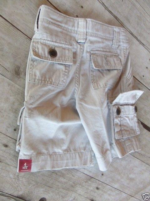 Boy/'s Arizona Chino Shorts  Navy Print Size 8 Regular New W Tags