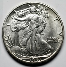 1943D Walking Liberty Half Dollar 90% Silver Coin Lot# A 221