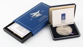 Set of Two 1995 Spitfire Warplane Centenary Medals R.J. Mitchell w/ Boxes & CoAs - $200.48