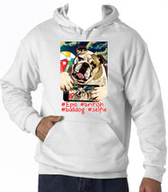 British Bulldog Selfie - New Cotton White Hoodie - $38.78