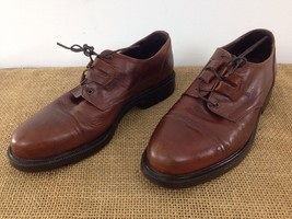 Cable & Co Mens sz 9.5 Brown Leather Cap Toe Work Office Dress Shoes - $9.90