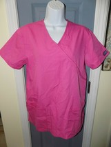 Cherokee Pink Short Sleeve Scrub Shirt Size Small Women's EUC - $20.24