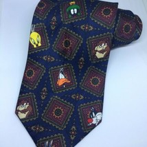 Vintage Looney Tunes Mania Necktie Bugs Bunny Daffy Duck Taz Tweety Men'... - $11.76