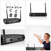 Wireless Microphone System Adjustable Volume Control Lavalier Headset Mics - $41.66
