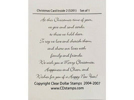 Clear Dollar Stamps Christmas Card Inside #2 Clear Sentiments Stamp Set #5201