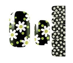 Creative Fashionable Green Nail Stickers Nail Decoration, Flower