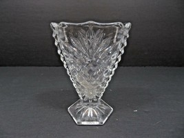 Vintage Mid Century etched Elegant Heisey glass vase - $20.00